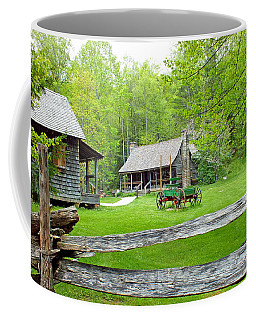 Old Cabins At The Cradle Of Forestry Coffee Mug