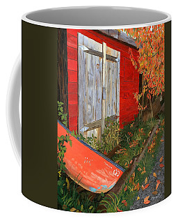 Coffee Mug featuring the painting Old Canoe by Lynne Reichhart