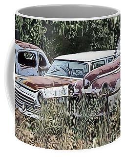 Old Car Graveyard Coffee Mug