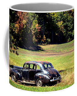 Old Car In A Meadow Coffee Mug