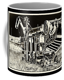 Old Case Thresher - Black And White Coffee Mug