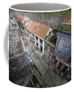 Old City Of Porto In Portugal From Above Coffee Mug