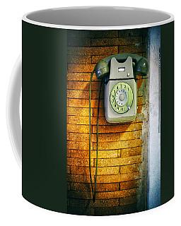Old Dial Phone Coffee Mug by Fabrizio Troiani