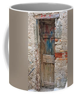 Coffee Mug featuring the photograph Old Door by Susan Leonard
