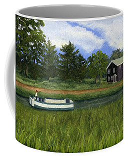 Coffee Mug featuring the painting Old Erie by Lynne Reichhart