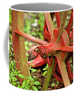 Old Farm Tractor Wheel Coffee Mug