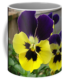 Coffee Mug featuring the photograph Old-fashioned Pansies by Sandra Estes
