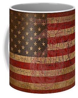 Old Glory And The Marine Corps Coffee Mug