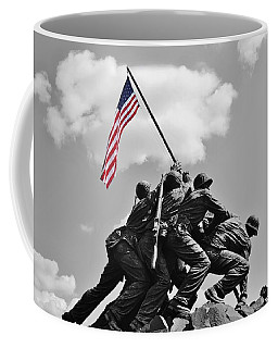 Old Glory At Iwo Jima Coffee Mug