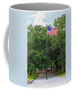Coffee Mug featuring the photograph Old Glory High And Proud by Sennie Pierson