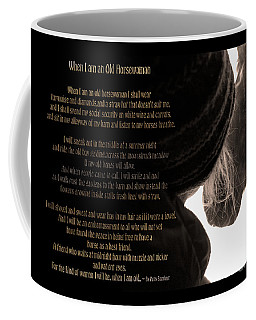 Old Horsewoman Coffee Mug by Mim White