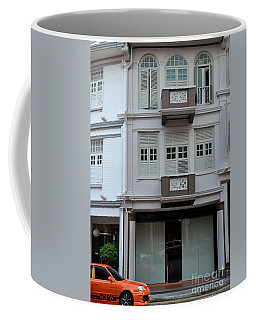 Coffee Mug featuring the photograph Old House And Funky Orange Car by Imran Ahmed
