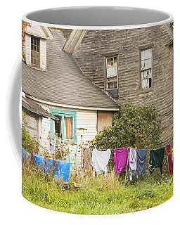 Old House With Laundry Coffee Mug