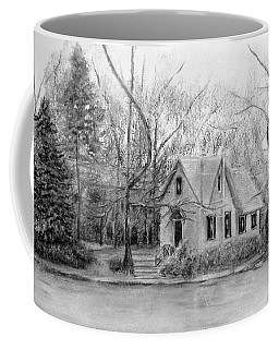 Old Library On Lake Afton - Winter Coffee Mug