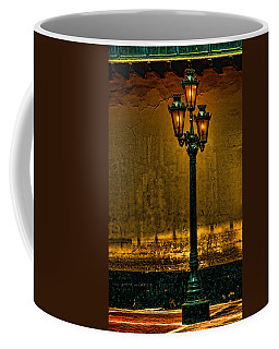 Coffee Mug featuring the photograph Old Lima Street Lamp by Mary Jo Allen
