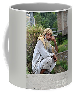 Old Man Carrying Fodder Swat Valley Kpk Pakistan Coffee Mug