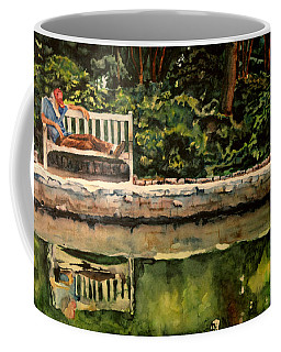 Old Man On A Bench Coffee Mug