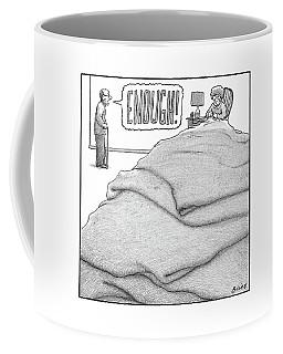 Old Man Screams Enough! At Wife Who Won't Stop Coffee Mug