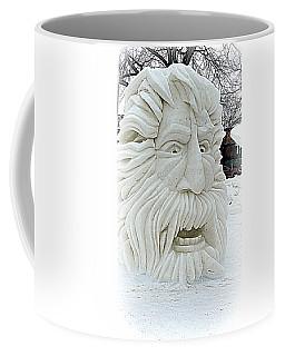 Old Man Winter Snow Sculpture Coffee Mug by Kay Novy