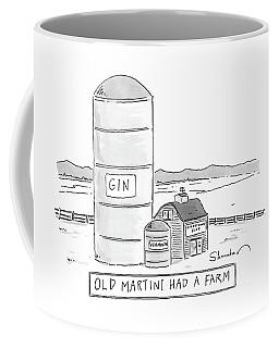 Old Martini Had A Farm Coffee Mug