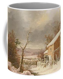 Old Mill In Winter Coffee Mug