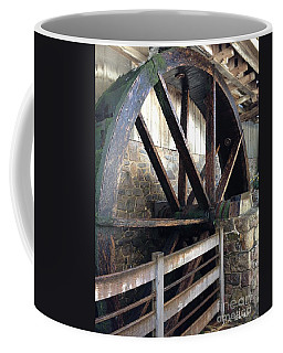 Coffee Mug featuring the photograph Old Mill Water Wheel by Jeannie Rhode