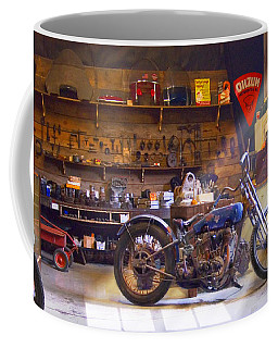 Old Motorcycle Shop 2 Coffee Mug