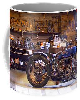 Old Motorcycle Shop 2 Coffee Mug