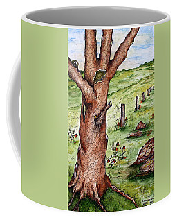 Old Oak Tree With Birds' Nest Coffee Mug