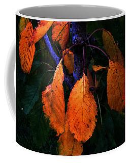 Old Orange Leaves Coffee Mug