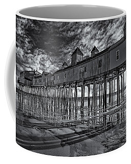 Old Orchard Beach Pier Bw Coffee Mug by Susan Candelario
