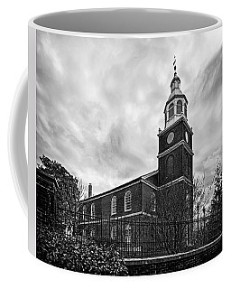 Old Otterbein Church In Black And White Coffee Mug by Bill Swartwout