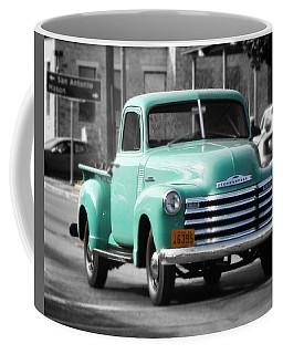 Old Pickup Truck Photo Teal Chevrolet Coffee Mug