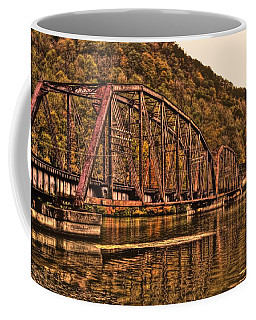 Coffee Mug featuring the photograph Old Railroad Bridge With Sepia Tones by Jonny D