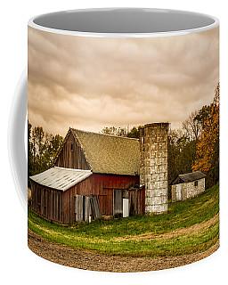 Old Red Barn And Silo Coffee Mug