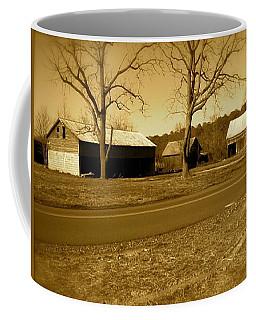 Old Red Barn In Sepia Coffee Mug by Amazing Photographs AKA Christian Wilson