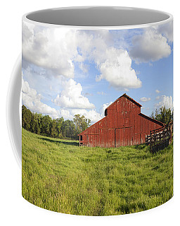 Coffee Mug featuring the photograph Old Red Barn by Mark Greenberg