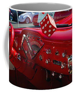 Coffee Mug featuring the photograph Old Red Chevy Dash by Tikvah's Hope