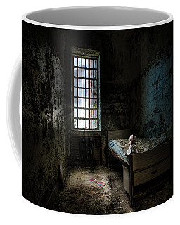 Coffee Mug featuring the photograph Old Room - Abandoned Places - Room With A Bed by Gary Heller
