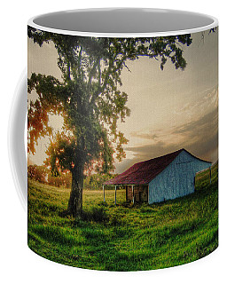 Coffee Mug featuring the photograph Old Shed by Savannah Gibbs