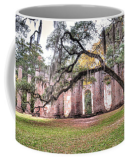 Old Sheldon Church - Bending Oak Coffee Mug
