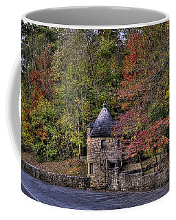 Coffee Mug featuring the photograph Old Stone Tower At The Edge Of The Forest by Jonny D