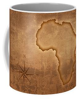 Old Style Africa Map Coffee Mug
