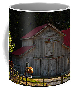 Coffee Mug featuring the photograph Old-style Horse Barn by Jordan Blackstone