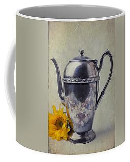 Old Teapot With Sunflower Coffee Mug