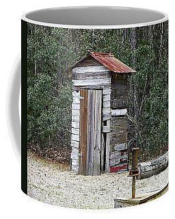 Old Time Outhouse And Pitcher Pump Coffee Mug by Al Powell Photography USA