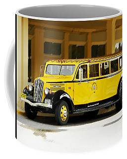 Old Time Yellowstone Bus Coffee Mug by David Lawson