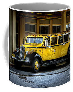 Old Time Yellowstone Bus II Coffee Mug by David Lawson