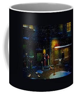 Old Town Christmas Eve Coffee Mug by Ken Morris