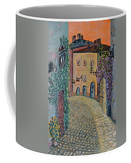 Coffee Mug featuring the painting Old Town In Piedmont by Felicia Tica